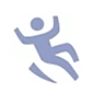 icon of a man falling